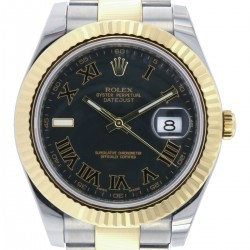 Datejust II Black Dial, Steel and Gold, ref. 116333, Full Set