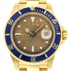 Submariner Date 18kt Yellow Gold, ref.16808, Tropical Champagne Dial