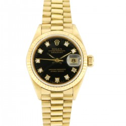 Lady's Datejust ref. 69178, 18kt yellow Gold and Diamonds, from 1985