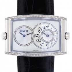 Two Time Zone, Steel and Diamonds, Mother of Pearl Dial, New