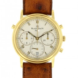 Villeret Rattrapante DoppelChronograph Flyback 18 kt yellow gold, full set