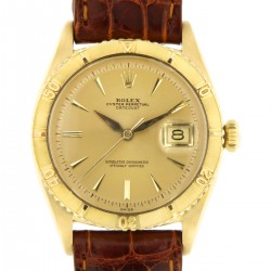 """Turn-o-graph Vintage  """"Thunderbird"""" ref. 6609 18kt yellow gold,  from year 1959"""