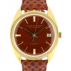 Gyromatic 18kt Yellow Gold, Brown Enamel Spider DIal, from 60s