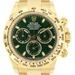 Cosmograph Daytona Yellow Gold Ref. 116508, Green Dial, New 2020
