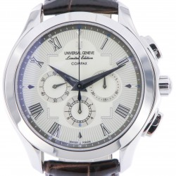 Compax, Limited Edition, Stainless Steel, White Dial, NOS