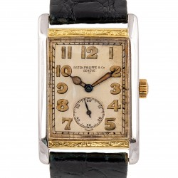 18kt Yellow Gold and Platinum Art Deco Watch, from 20s