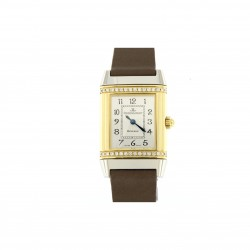 "Reverso ""Floreale"" petite taille, steel and gold, ref.265.5.08"