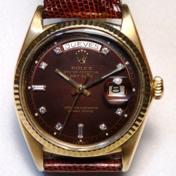 Day-Date Burgundy  Vignette Diamond Dial, ref.1803 made in 1968