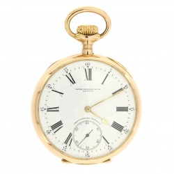 Gondolo & Labouriau, pocket watch 18kt pink gold from 1905, with the original box