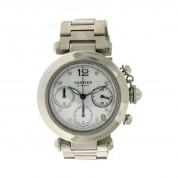 Pasha 36 mm Chronograph Stainless Steel
