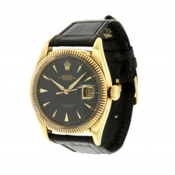 "Datejust ""Ovettone"", ref 6305, Yellow Gold, black dial"