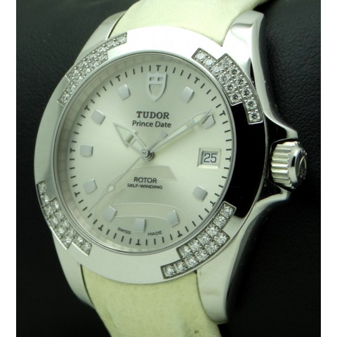 Prince Date Lady, Stainless Steel and diamonds