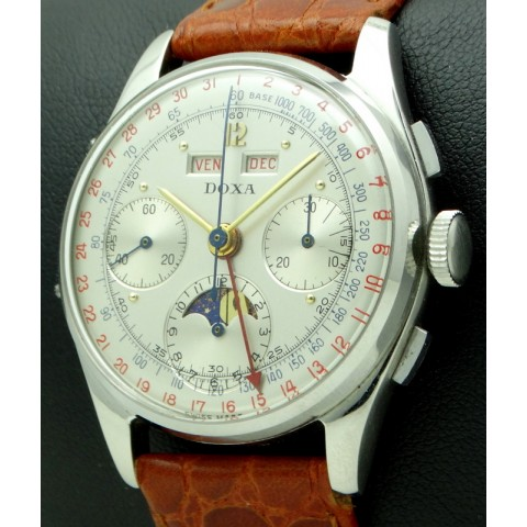 Vintage Chronograph Triple Date Stainless Steel, from '50