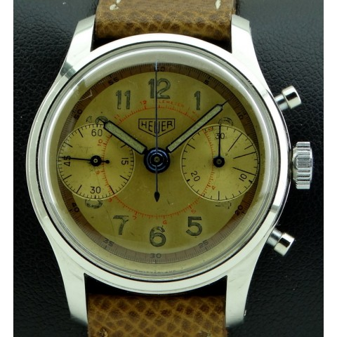 Vintage Chronograph Stainless Steel, two tone dial, from 1949