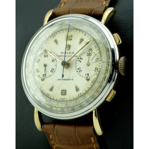 "Chronograph Antimagnetique ""Coin-Edge"", made 1950 ca"