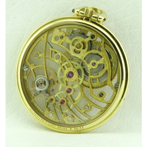 Skeleton 18kt Yellow gold Pocket Watch, from Seventies