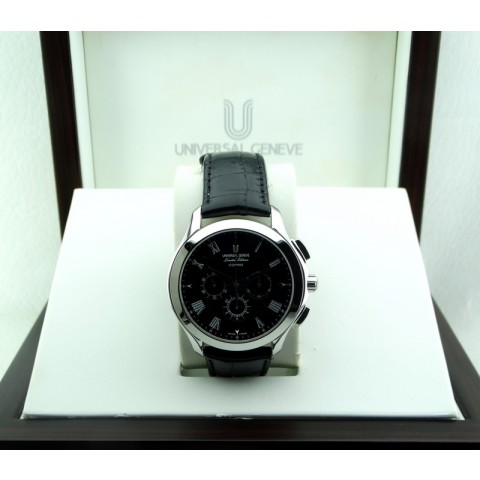 Compax, Limited Edition, Stainless Steel, Black Dial, NOS
