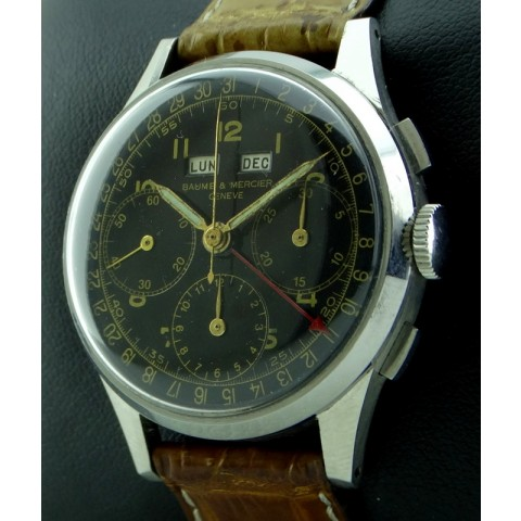 Vintage Chronograph Triple Date Stainless Steel, from Fifties