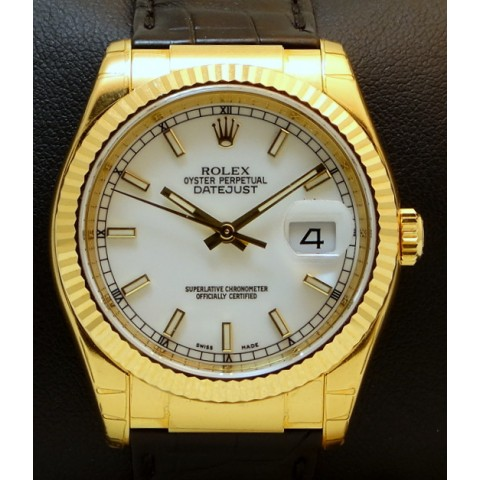 Datejust Ref.116138 18Kt Yellow Gold, Like new