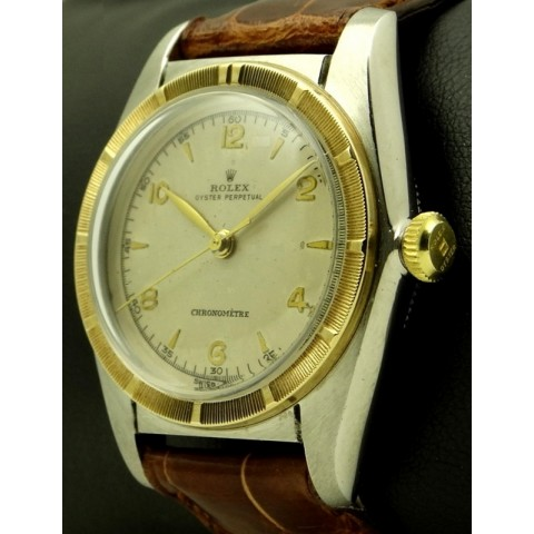 Bubble Back Ref.5050 Steel and Gold, Made in 1950