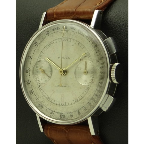 Antimagnetique Chronograph, stainless steel, Ref. 3484