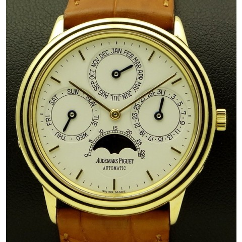 Quantieme Perpetuel Calendar Yellow Gold, full set