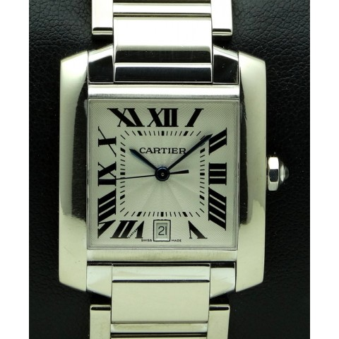 Tank Francaise GM 18kt white gold, full set