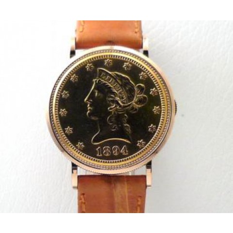 Ten Dollar Coin Watch 18 K Yellow gold