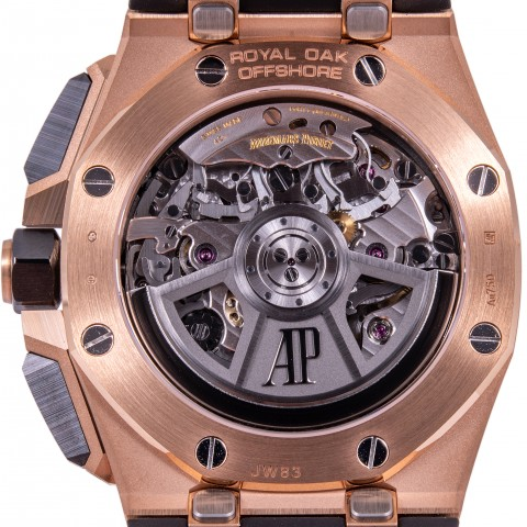New Royal Oak Offshore Chronograph 18kt Rose Gold and Black Ceramic 43mm, ref.26420RO, New