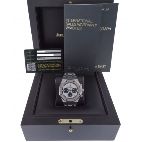 Royal Oak Chronograph 38mm Stainless Steel, 26315ST, Silver and Blue Dial, New
