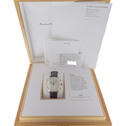 Portuguese Chronograph Rattrapante Platinum ref. IW3712, Limited Edition 250 pcs, full set