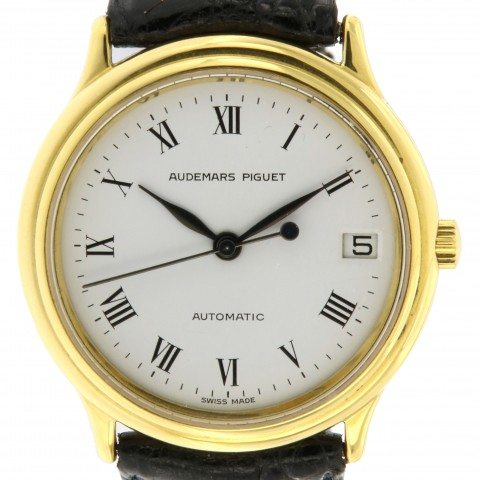 Jules Audemars in 18kt yellow gold, ultra thin, from 80s