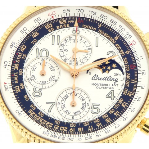 Montbrillant Olympus Ref. 19350, 18k yellow gold case, limited ed.250 pcs.,chronograph and calendar