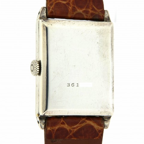 Rectangular Silver watch, from 20s