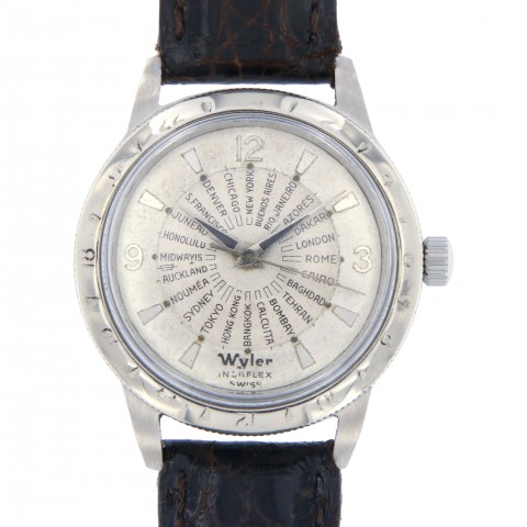 Vintage Worldtime Stainless Steel from 60s