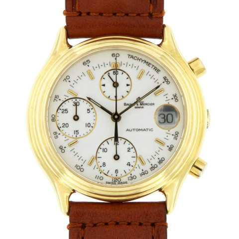 Chronographe Baumatic 18kt Yellow Gold, ref.86103 from 90s