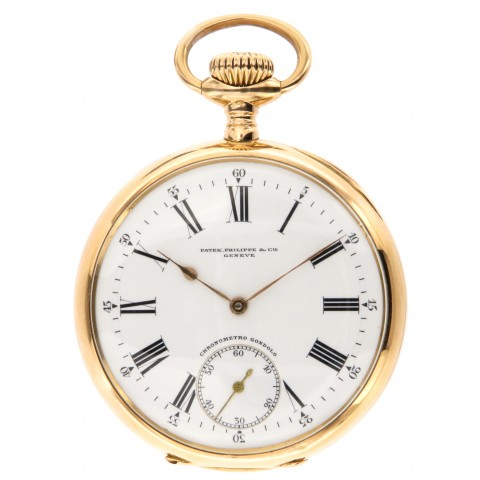 Gondolo et Labouriau, pocket watch 18kt pink gold from 1905, with the original box