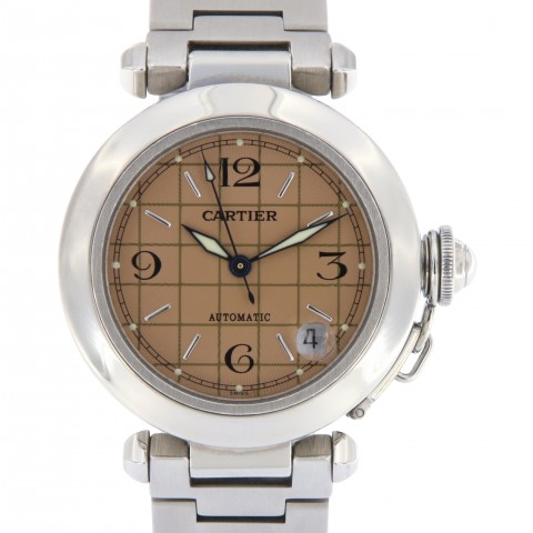 Pasha C Automatic Stainless Steel, Salmon Dial