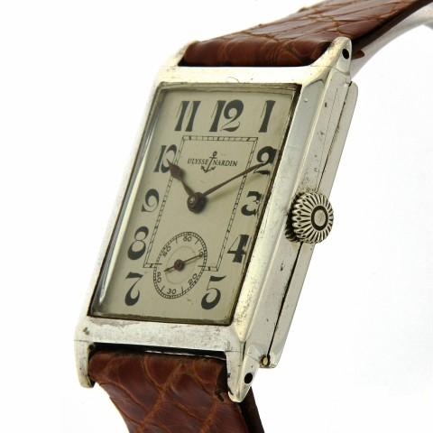 Rectangular Silver watch, from twenties