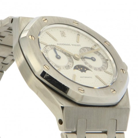 Royal Oak DayDate Moon phases, stainless steel, Ref. 25594ST, full set