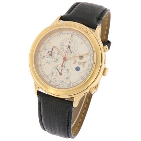 Piguet Jules Perpetual Calendar Chronograph 18K Rose Gold