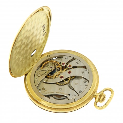 Hunting Pocket Watch 49mm 18kt Yellow Gold, ref.123