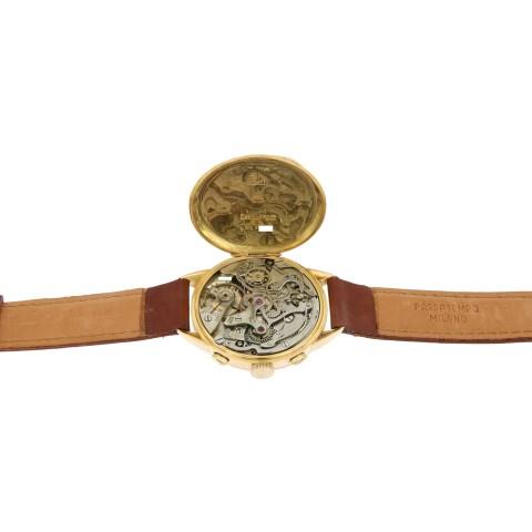 Vintage Oversize Telemetre Chronograph, 18kt rose gold, from 30s
