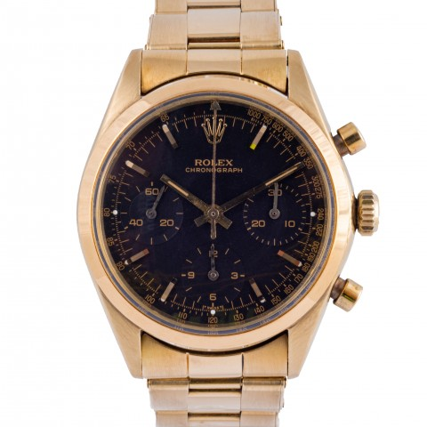 Rare Predaytona Ref. 6238 14 k yellow gold, black dial, Full Set